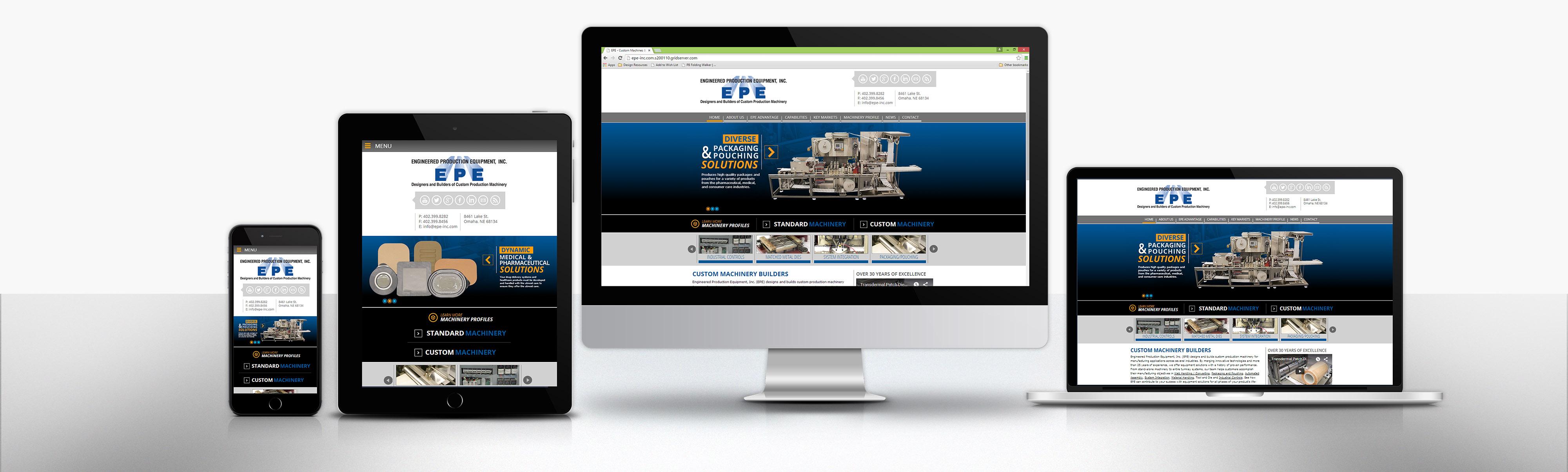 Responsive website design slider