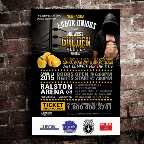 Midwest Golden Gloves print design example by Mosaic Visuals Design in Omaha, NE