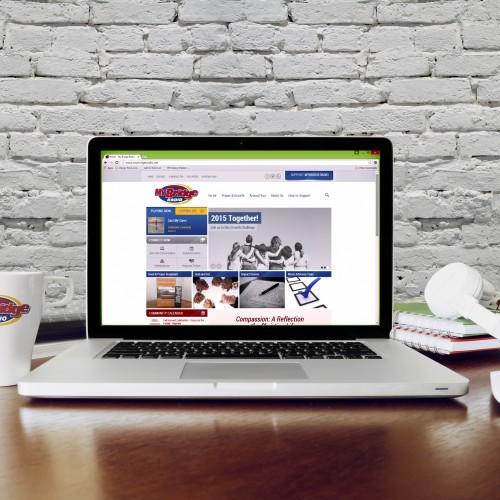 My Bridge Radio website design by Mosaic Visuals Design in Omaha, NE