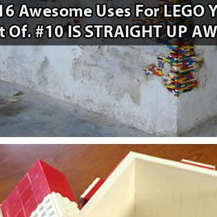 16 Awesome Uses For LEGO You Never Thought Of…