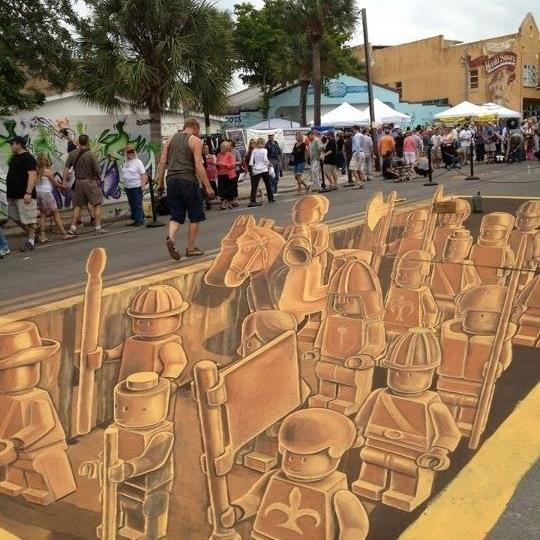 Incredible LEGO Street Art Army Completed [Update]