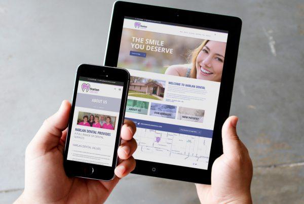 Website Design for Harlan Dental by Mosaic Visuals Design in Omaha, NE